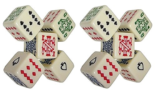 - (2) Sets of 5 Poker Dice 16mm