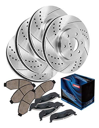 (XLBRAKE Front and Rear Brake Kits Brake Rotors and Brake Pads Set For Isuzu Amigo S, Isuzu Rodeo S LS LSE, Isuzu Trooper S LS Limited, Isuzu VehiCROSS Base)