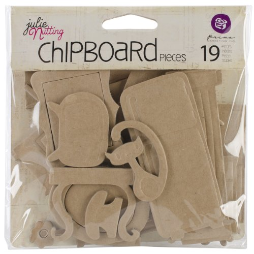 Prima Marketing Mixed Media Doll Chipboard Shapes, Furniture, 19-Pack (Home Chipboard)