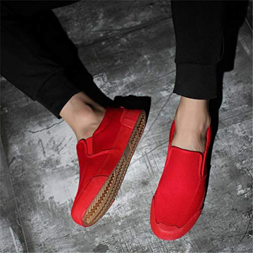 comode Estate Slip Scarpe Primavera Uomini Casual Mocassini Qianliuk Scarpe Red on BtXqax