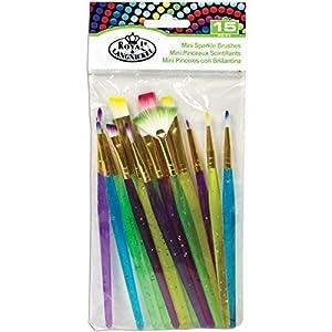 Mini Sparkle Brush Set-15/Pkg by ROYAL BRUSH