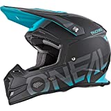 O'Neal 5 SRS Unisex-Adult Off-Road-Helmet-Style Blocker Helmet (Black/Teal, Large)