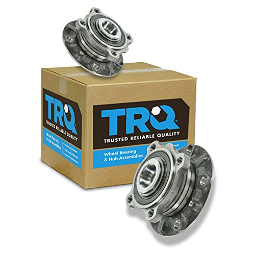 TRQ Front Wheel Hub And Bearing Left & Right Pair for BMW 5 Series Z8 E39