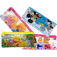 Pencil Pouches for Kids Pack of 4 Pencil Case, Multi-Color Pouches for School Kids/Pouches for School Girls/Pouches for School Boys