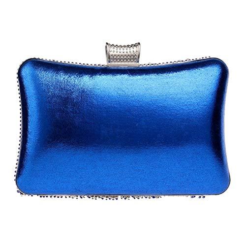 Gold Borsa Banchetto Bridge Blue Sera Mano Shopping Diamante colore Blu A Donne Crossbody Frizione YqE7Ew