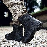 Youzpin Men Steel Toe Boots Outdoor Slip Resistant