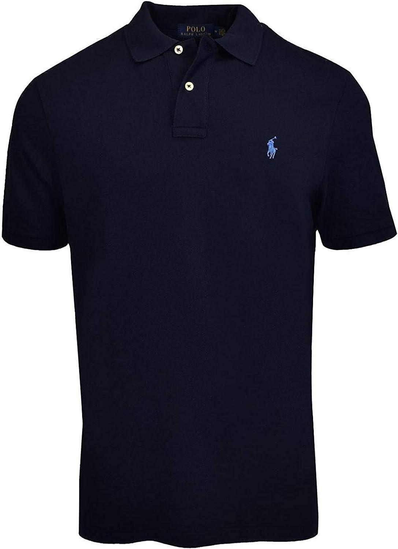 Newport Navy//Steel Blue Pony, Medium Polo Ralph Lauren Men Classic-Fit Mesh Polo
