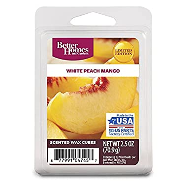 Better Homes and Gardens White Peach Mango Wax Cubes