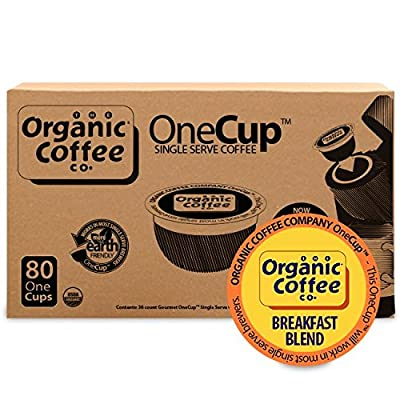 The Organic Coffee Co. OneCup, 80 Count