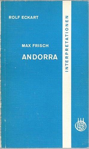 Amazon.com: Andorra, Max Frisch: Books