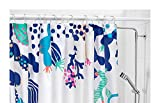 IKEA Shower Curtain Waterproof/Water-Repellent - 71x71, Blue/White