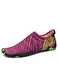 SAGUARO Mens Womens Barefoot Water Shoes Breathable Quick Dry Sports Beach Swim Surf Pool Diving Trip