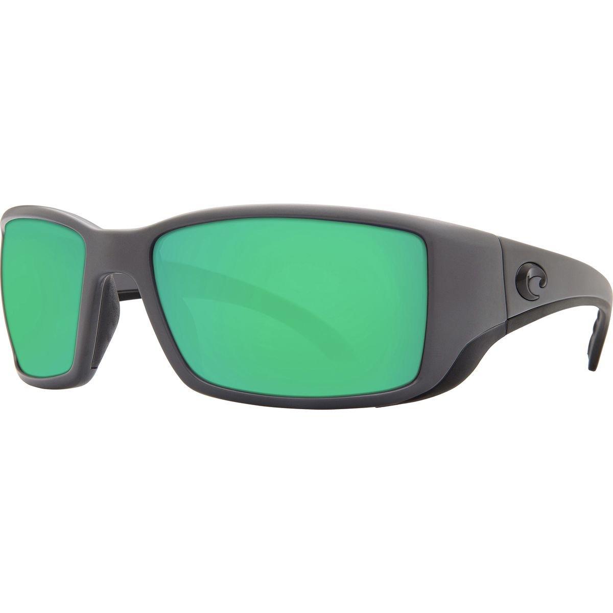 Direct BL98OGMGLP Costa Del Mar Blackfin Sunglasses Matte Gray//Green Mirror 580Glass Pro-Motion Distributing