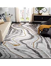 """Safavieh Craft Collection CFT819F Modern Abstract Area Rug, 5' 3"""" x 7' 6"""", Grey/Gold"""