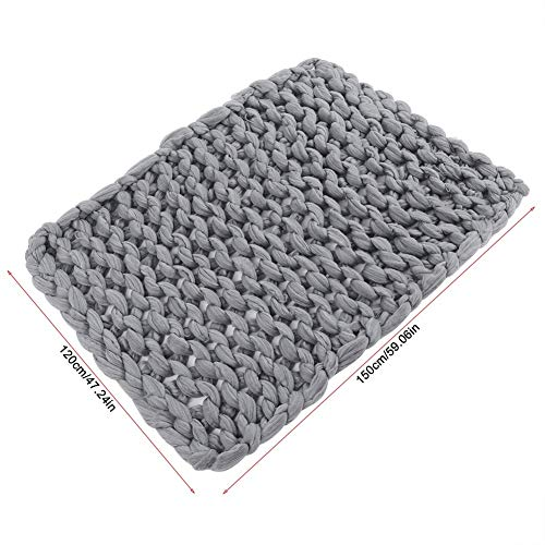 Knitted Blanket - Handmade Knitted Warm Blanket, Wool Thick Line Blanket Throw, Home Decor (Size : 120 x 150 cm) by DeWin (Image #6)
