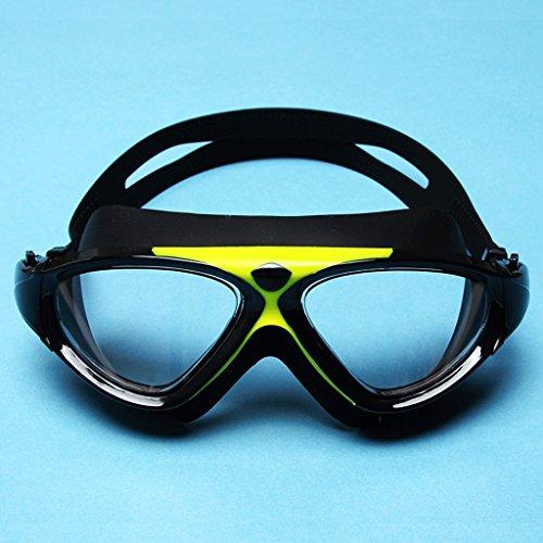 de HD Amarillo del de Impermeables anteojos Transparentes natación Gafas los Color de Grandes Las antivaho de Hombres señoras la Hombres Blanco natación los Anteojos de Marco de ZHJING qtxwpfO