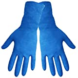 Global Glove 805PF Nitrile Glove with Rolled Cuff, Disposable, Powder Free, 8 mils Thick, 11'' Length, Medium (Case of 500)
