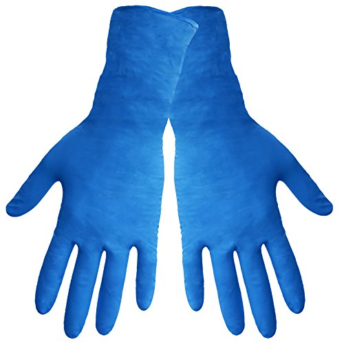 Global Glove 805PF Nitrile Glove with Rolled Cuff, Disposable, Powder Free, 8 mils Thick, 11'' Length, Extra Large (Case of 500) by Global Glove