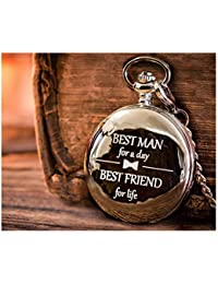 Best Man Gifts for Wedding – Engraved Best Man Pocket Watch for Best Man Wedding Gift