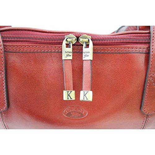 K82574, Borsa a spalla donna marrone marrone