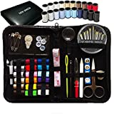 SEWING KIT, Over 80 Premium Sewing Supplies, 38 Spools of Thread - FREE Extra 20 Most Useful Colors of Threads - Mini Travel sewing kit, Beginners Sewing Kit, Emergency sewing kit (Premium)