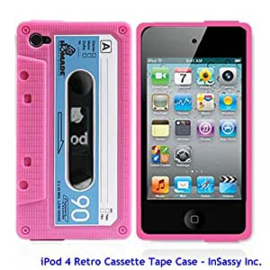 Pink/Blue Silicone Cassette Tape Case for Apple iPod Touch 4 4th Generation