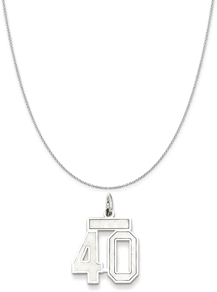Snake or Ball Chain Necklace Sterling Silver Small Satin Number 40 on a Sterling Silver Cable