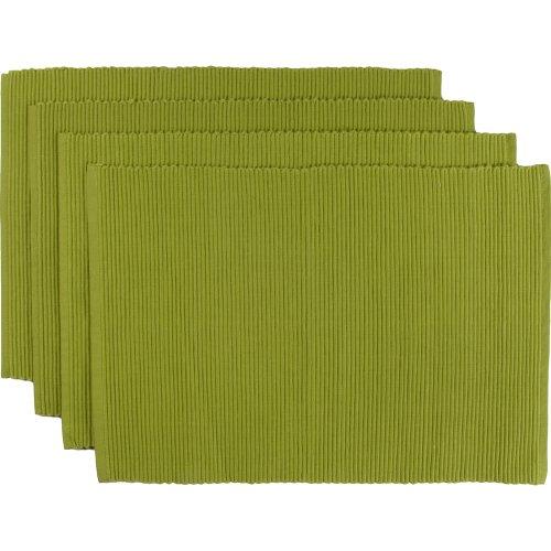 Now Designs Spectrum Basic Cotton Placemats, Set of Four, Cactus Green (Placemets)
