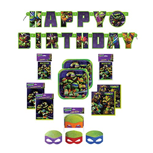 [Teenage Mutant Ninja Turtles Birthday Party Supply Bundle for 16 People] (Nickelodeon Teenage Mutant Ninja Turtles Treat Bags)