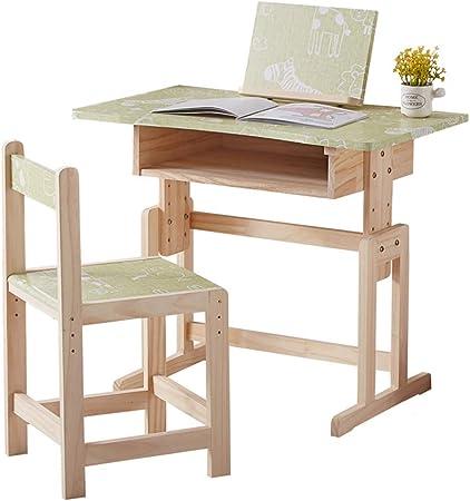 Juegos de mesas y sillas Mesa de estudio y silla mesa de estudio de madera maciza