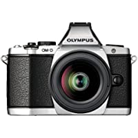 Olympus OM-D E-M5 16MP Live MOS Interchangeable Lens Camera with 3.0-Inch Tilting OLED Touchscreen and 12-50mm Lens (Silver)  - International Version (No Warranty)
