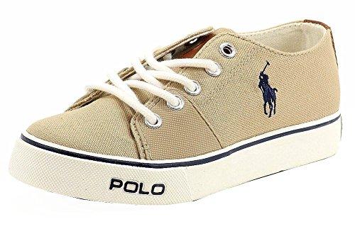 (Polo Ralph Lauren Kids Cantor Lace-Up Sneaker (Toddler/Little Kid/Big Kid),Khaki,12 M US Little Kid)
