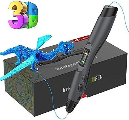 Pluma de Impresión 3D, Tecboss Pluma 3D con Pantalla LCD, 8 ...