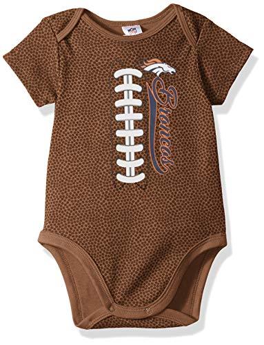 Denver Broncos Football Baby Onesie - NFL Denver Broncos Unisex-Baby Football Bodysuit, Brown, 6-12 Months