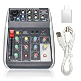 Phenyx Pro 4-Channel Audio Mixer, 4-Input, 3-Band