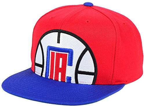 Mitchell & Ness NBA Cropped XL Logo Adjustable Snapback Hat (One Size, Los Angeles Clippers)