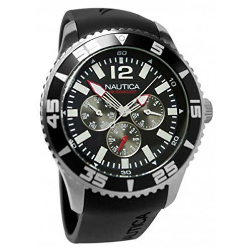 Nautica NST 07 Multifunction Men's watch #N11086G (Men Nautica Watches Black)