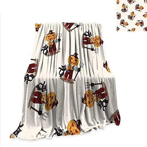 Digital Printing Blanket Halloween Party Costume Seamless Pattern -