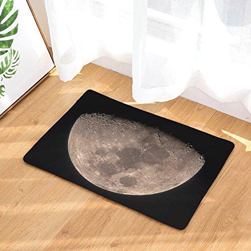 YQ Park Non-Slip Door Mat Lunar Coral Fleece Indoor Outdoor Kitchen Floor Carpet Front Door Mat