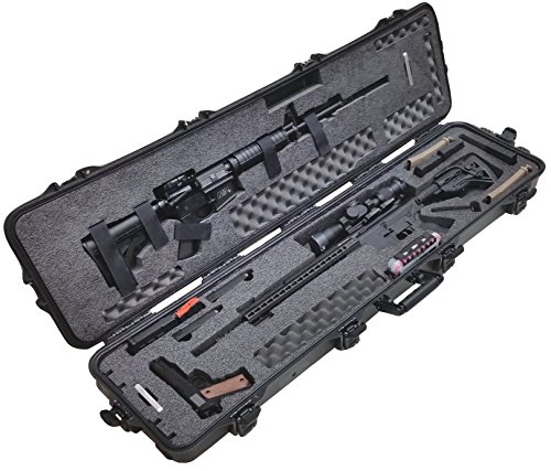 Case Club Pre-Made Waterproof 2 AR Rifle Case with Silica Gel & Accessory Box by Case Club