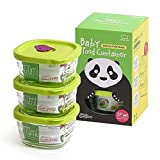 Lock & Lock Baby Food Container Oven Glass Wave Steam Hole Squareness 170ml 3P Set