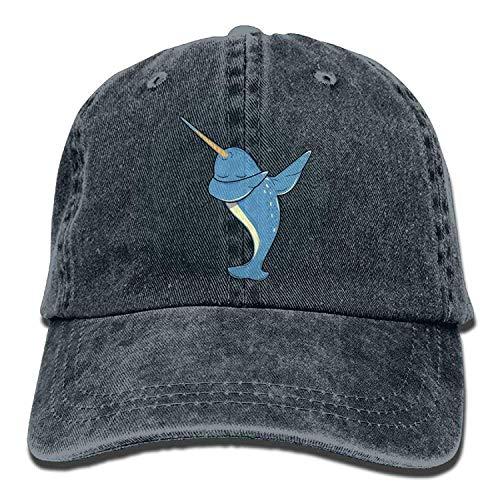 Cool Dabbing Narwhal Adult Perfect Cowboy Baseball Caps Fish Vintage Halloween -