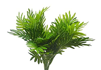 Artificial Shrubs 2pcs Artificial Plastic Palm Tree for Fake Simulation Greenery Plants Indoor Outside Home Garden Office Home Wedding Décor
