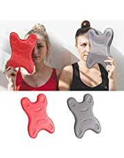 MGQ Innovative Neck Stretcher,Neck Support Pillow,Cervical Massage Pillow for Neck Pain - for Side Sleepers, Back and Stomach Sleepers (Red)