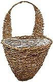 Cheap Gardman R299 Rustic Rattan Half Hive Hanging Wall Basket, 13″ Wide x 10″ Deep