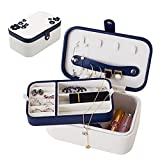 B.Catcher Girls Two-Layer Suede Leather Travel Jewelry Box Display Storage Case Holder