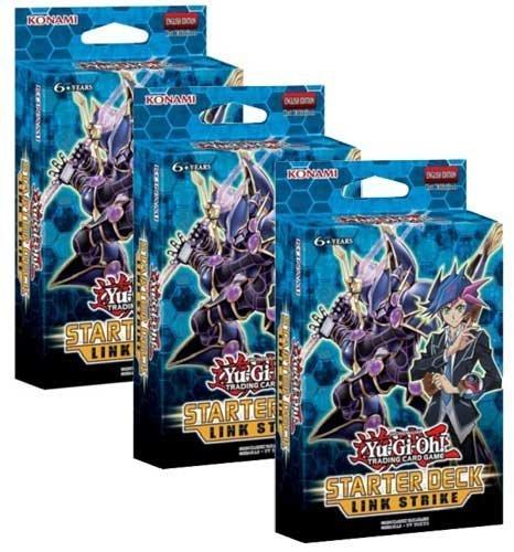 - 3 DECKS - Yugioh Link Strike 2017 Starter Decks 1st Edition English - 43 cards each