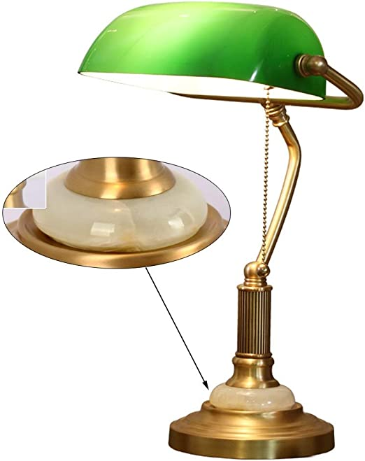 Lampe de table vintage en laiton lampe de bureau étude lampe