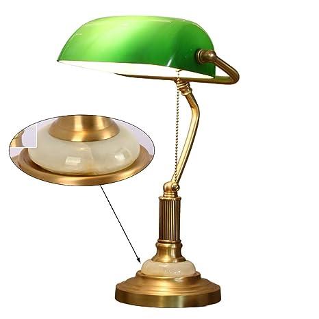 Lámpara de mesa vintage Lámpara de escritorio de latón Estudio ...
