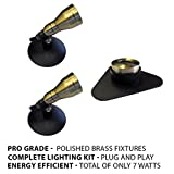 Patriot Brass LED Waterproof Pond and Landscape Lighting 7 Watt Light Kit P-A3